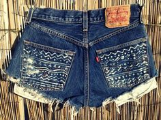 Fancy - Vintage Levis Denim High Waist Cut off Shorts Tribal on LoLoBu  So making these when I find the perfect vintage short!