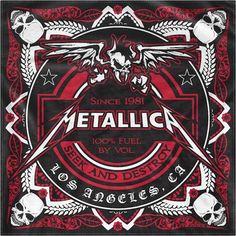 Metallica, Seek & Destroy Cotton Full Design Logo Black Bandana #AvengedSevenfold #Bandana