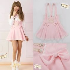 Cheap bandage cotton, Buy Quality dress jewlery directly from China bandage party dress Suppliers: 2015 New Summer High-waist Cute Japanese Overall dress Lace Music note short Overalls Dresses Lolita Bandage dress Free