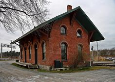 *** Old Train Station, Train Stations, Vintage Architecture, Office Buildings, Ham, Trains, Cabin, Street, House Styles