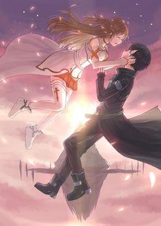 Asuna and kirito The end of SAO game
