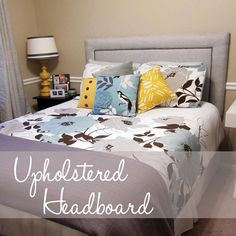 I'm not usually a fan of the pins, but this is such a simple design, I kinda like it. DIY Upholstered Headboard DIY Furniture