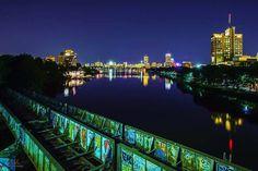 #boston #unversity #bridge with #Boston #city #view by #nadafotos  #bostonuniversity #railroad #charlesriver #bostondowntown #bostonterrier #bostoncity #bostonuniversity #bubridge #bu #nikon #nikon_photography #art #artist #artphotography #nightskyphography #nadaphotographer #nightlife #nightphotography #lighttrails #light #reflection by nadafotos
