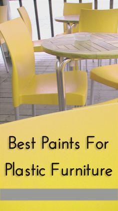 Best Paints For Plastic Furniture - or for plant pots etc.