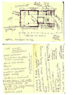 early thoughts and sketches
