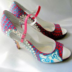 Wedding Shoes burgundy owls and pearls sexy high by norakaren, $295.00