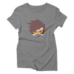 Tracer Overwatch inspired fan art Rewind Britface Women's Triblend T-shirt by shirtface