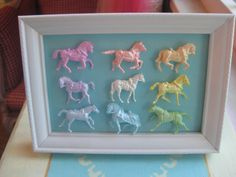 Marie Antoinette Inspired Mini Pastel Horse Display by Fairyhome, $24.80