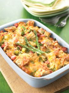 Asparagus Strata. Great recipe for Christmas morning.