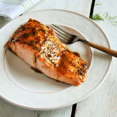 Salmon glistens with a sweet and bubbly brown sugar glaze spiked with fresh dill and spicy mustard.