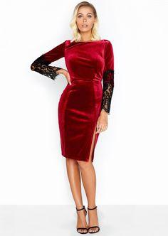 3c86c7e066 Red wine Paper Dolls dress. Christmas party dresses Red Velvet Dress,  Velvet Bodycon Dress