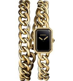 CHANEL H3750 Première Double Row Chain 18-carat gold and diamond watch #chanel #chanelwatch