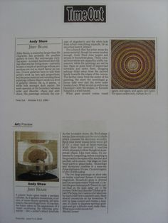 Time Out Magazine article Andy Shaw art www.saatchiart.com/andyshawart www.etsy.com/shop/AndyShawArt