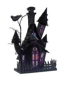 Spooky Halloween House with Light