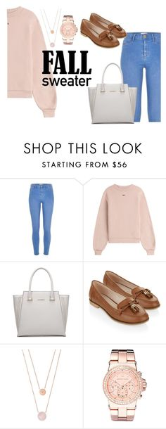 """""""Fall Sweater - Contest"""" by cg18 on Polyvore featuring River Island, Off-White, Accessorize and Michael Kors"""