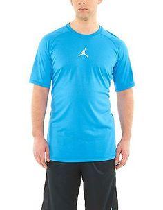 Jordan Dominate Tee Mens ROYAL / WHITE 465072-406 Active Shorts