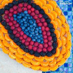 FullyRaw Fruit Platter! Tangerines, blackberries, raspberries, and blueberries! Raw vegan love! <3