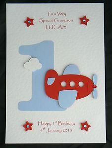 1st birthday card boy handmade - Google Search