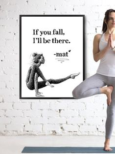 Inspirational yoga drawing, artwork and quote, an original decor item to infuse…