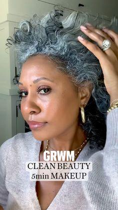 Makeup Tips, Beauty Makeup, Hair Makeup, Hair Beauty, Curly Hair Styles, Natural Hair Styles, 5 Minute Makeup, Gloss Matte, Clean Beauty