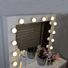 Source Makeup Vanity Dressing Table Dresser Desk with LED Lights and Large Drawer for Bedroom,White on m.alibaba.com Dressing Table Set, Dressing Mirror, Dressing Room, Cheap Vanity, Bedroom Furniture, Home Furniture, Dresser Desk, Large Drawers, White Texture