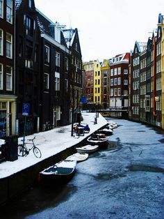 Iced Amsterdam Canal