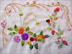 Embroidered flowers. #embroidery