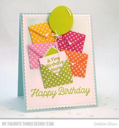 Sending Birthday Wishes Card Kit Big Balloons Die Namics Blueprints 27