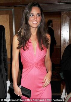 Kate Middleton in a stunning pink gown.