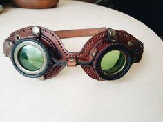 Leder Steampunk Brille von EugeneSkliarGifts auf Etsy