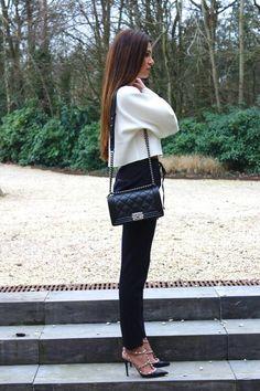 #Black, #White, #Winter #apparel - Rockstud Patent Sandal, Black