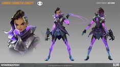 ArtStation - Sombra Character concept for Overwatch, Ben Zhang