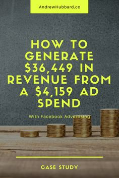 Facebook Ads Case Study: How To Generate $36,449 In Revenue From a $4,159 Ad Spend