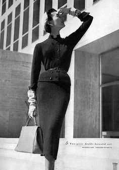 Mary Jane Russell 1951 Another wonderful suit.