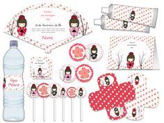 My Daughter Birthday, 9th Birthday, Birthday Parties, Japanese Birthday, Japanese Party, Kawai Japan, Party Fiesta, Kokeshi Dolls, Cute Dolls