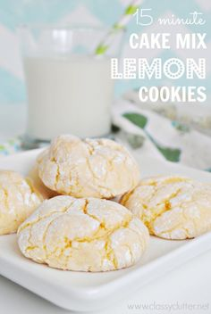 Lemon Cake Mix Cookies – these cookies were quick and delightful! Jim even liked… Lemon Cake Mix Cookies – these cookies were quick and delightful! Jim even liked them, and he never likes my cookies. I used lemon cake mix. Lemon Desserts, Lemon Recipes, Köstliche Desserts, Delicious Desserts, Yummy Food, Lemon Cake Mix Cookies, Lemon Cake Mixes, Yummy Cookies, Yellow Cake Mix Cookies