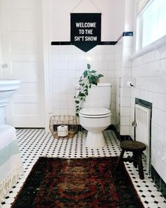 Inspect right here for Rental Bathroom White Bathroom Tiles, Home, Shower Over Bath, Bathroom Makeover, Small Bathroom Paint, Room Remodeling, Bathroom, Bathroom Rugs, Bathroom Inspiration