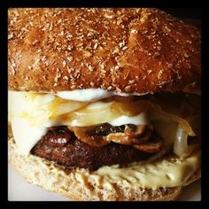 Vegetarian Gourmet Smokehouse Burger