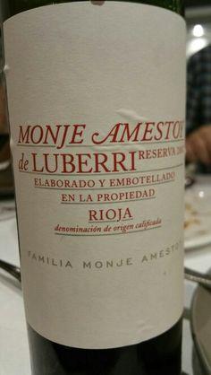 Monje Amestoy de Luberri reserva 2007 - DO Ca Rioja - Bodegas Luberri Familia Monje Amestoy (El Ciego) - Vino tinto reserva, envejecido durante 16 meses en barrica de roble americano y francés y 20 meses en botellero - 90% Tempranillo y 10% resto variedades - 14,5% - 87 PARKER / 91 PEÑIN