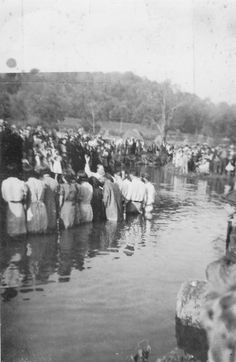 Baptism, S.W. VA 1930's Wow, they don't do them like this anymore, and that's sad...