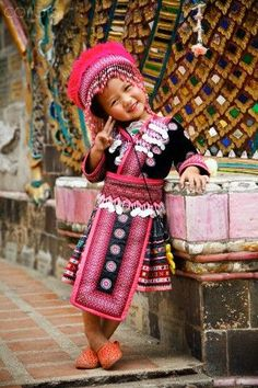 Girls Thailand, Thai Child, Traditional Dresses, Traditional Clothing ...