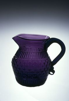 Creamer Made in Moscow, OH About 1829 Corning Museum of Glass. Shades Of Purple, Deep Purple, All Things Purple, Purple Stuff, Corning Museum Of Glass, Purple Kitchen, Purple Home, Purple Reign, Purple Glass