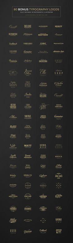 100 Minimal Logos + BONUS by Zeppelin Graphics on @creativemarket
