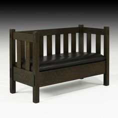STICKLEY BROTHERS settee, 1910