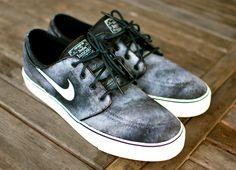 Hand Painted Smoke Nike Stefan Janoski skate shoes by BStreetShoes, $159.00