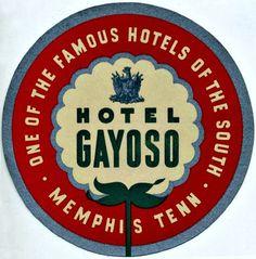 Hotel Gayoso ~  Memphis, TN