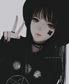 Anime girl by aoi ogata Fille Anime Cool, Art Anime Fille, Cool Anime Girl, Beautiful Anime Girl, Anime Art Girl, Anime Love, Anime Girls, Dark Anime Girl, Kawaii Anime Girl