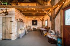 See how Kevin Durkin and his team, Heritage Restorations, rebuilt and converted this old rustic barn from the and turned it into the rustic and reclaimed 840 sq. cabin that it is today. Barn Loft Apartment, Apartment Plans, Loft Apartments, Converted Barn Homes, Small Barns, Barn Renovation, Pole Barn Homes, Barn Plans, Rustic Barn
