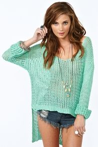 Mint Green is a huge fashion must this year for summer and Spring !     Try out Bright Vivid Colours, as well as soft pastels !