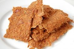 Raw Dehydrated Carrot Crackers made with left over apple/carrot juicing pulp